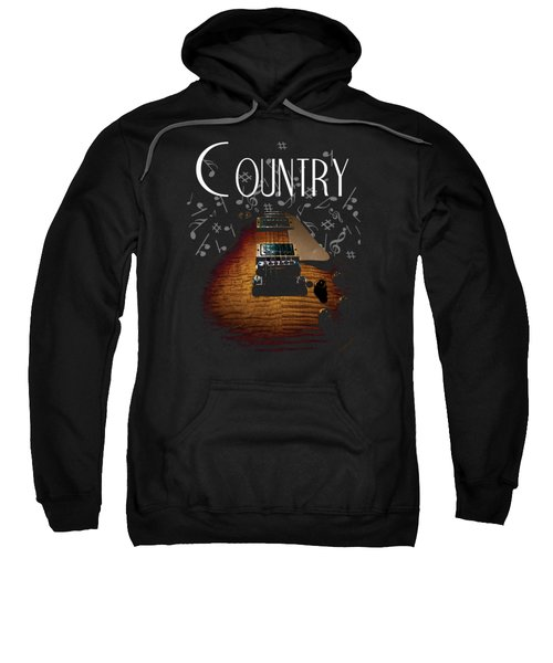 Color Country Music Guitar Notes Sweatshirt