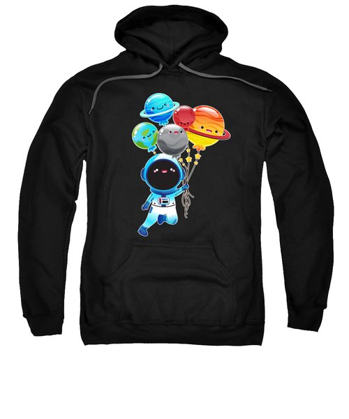 Astronaut With Planet Balloons Outta Space Sweatshirt