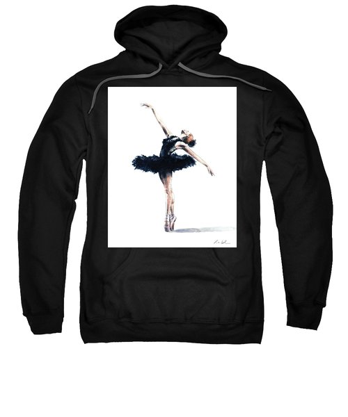 Ballerina In Black Tutu 2 Sweatshirt