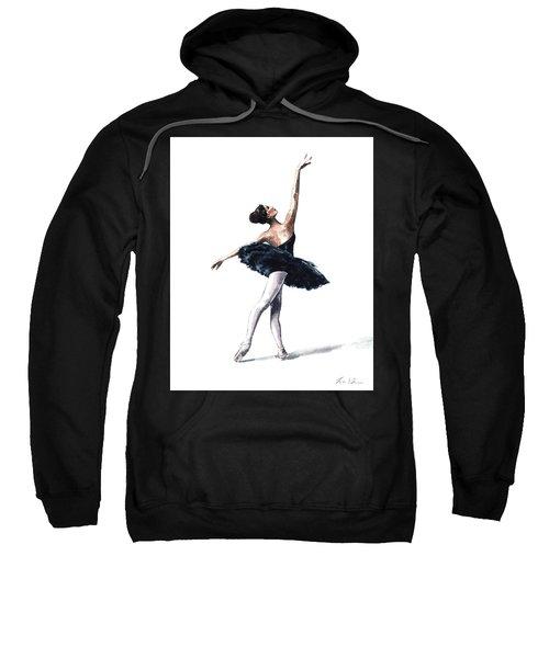 Ballerina In Black Tutu Sweatshirt