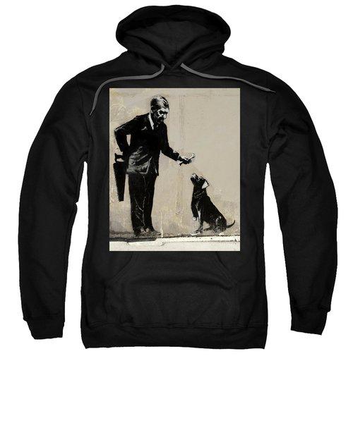 Banksy Paris Man With Bone And Dog Sweatshirt