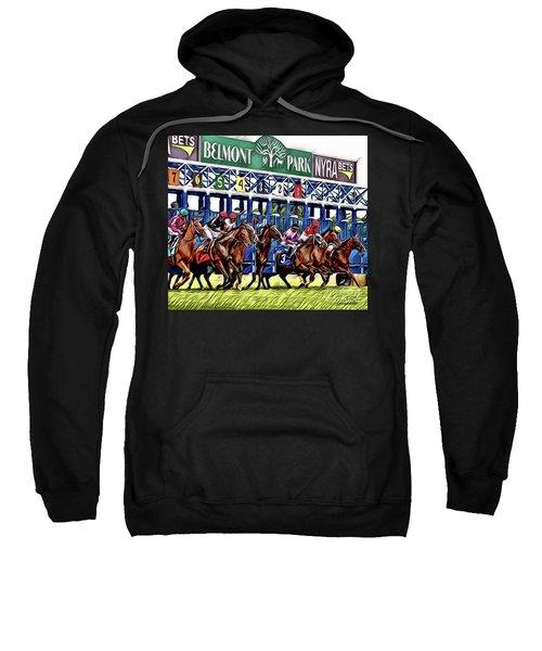 Belmont Park Starting Gate 2 Sweatshirt