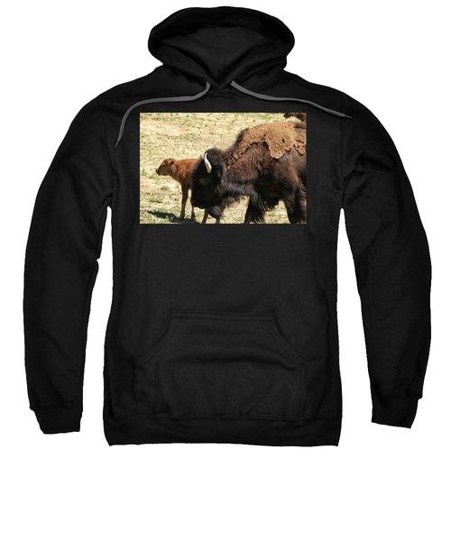 Bison In North Dakota Sweatshirt