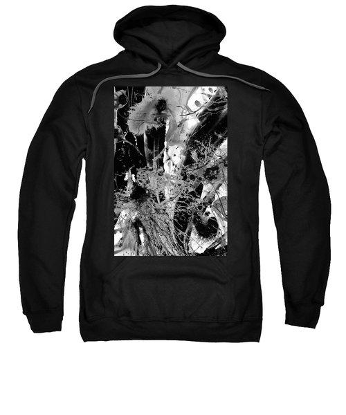 Black And White Abstract Art - Black Formations 4 - Sharon Cummings Sweatshirt