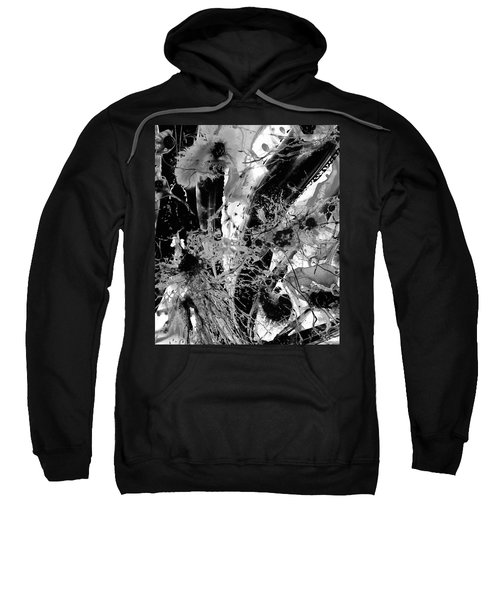 Black And White Abstract - Black Formations 1 - Sharon Cummings Sweatshirt