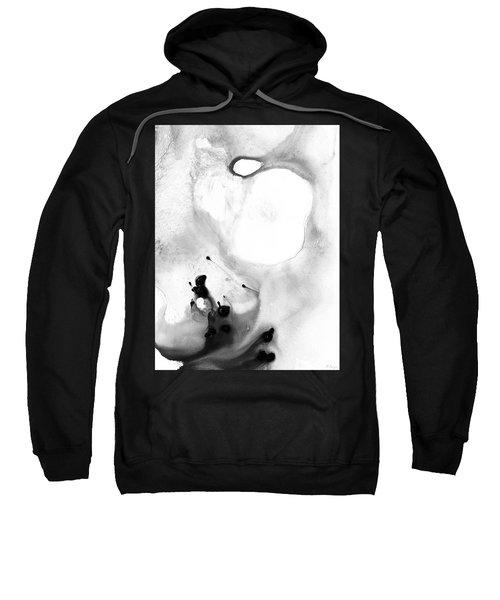 Black And White Abstract - Short Wave - Sharon Cummings Sweatshirt
