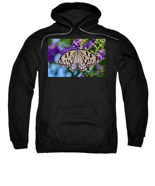 Black And White Paper Kite Butterfly Sweatshirt