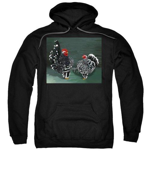 Black Mottled Serama Pair Sweatshirt