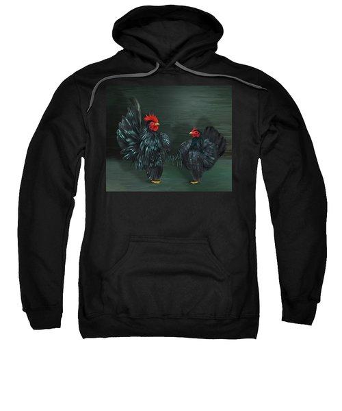 Black Serama Pair Sweatshirt