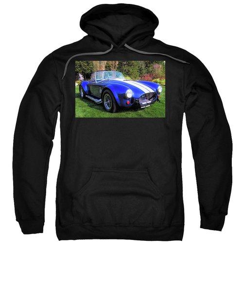 Blue 427 Shelby Cobra In The Garden Sweatshirt