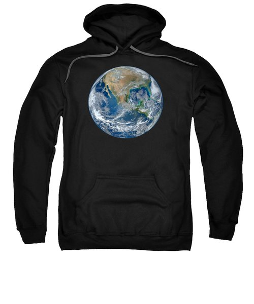 Blue Marble Our Earth From Space Sweatshirt