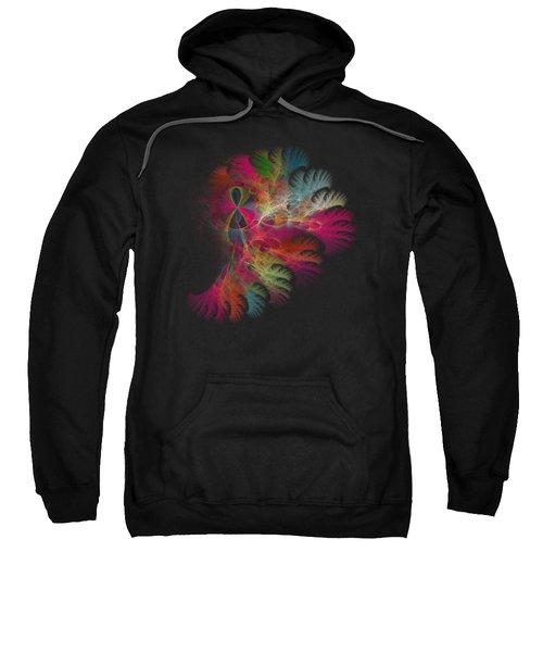 Brilliant Flare Coral Fractal Sweatshirt