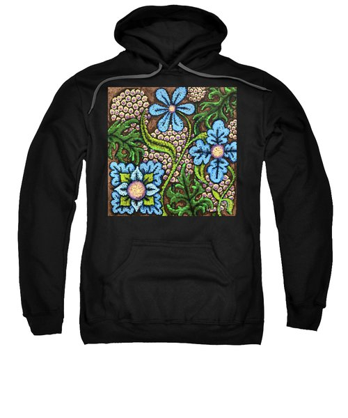 Brown And Blue Floral 2 Sweatshirt