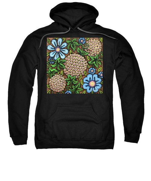 Brown And Blue Floral 3 Sweatshirt