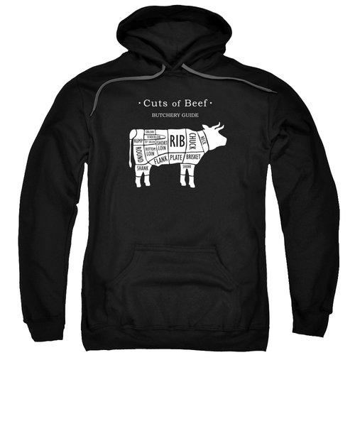 Butchery Guide Cuts Of Beef Sweatshirt