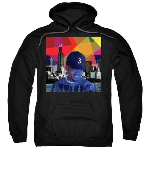 Sweatshirt featuring the painting Chance Chicago by Carla B