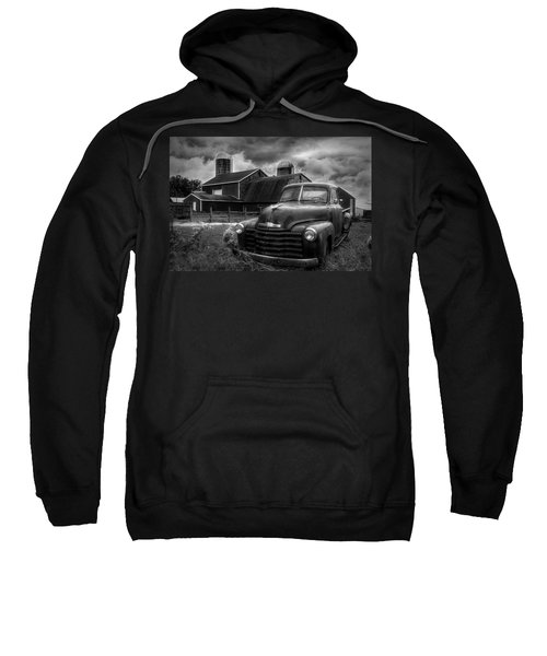 Chevrolet In The Countryside In Black And White Sweatshirt