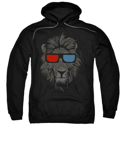 Cool Lion With Glasses Sweatshirt