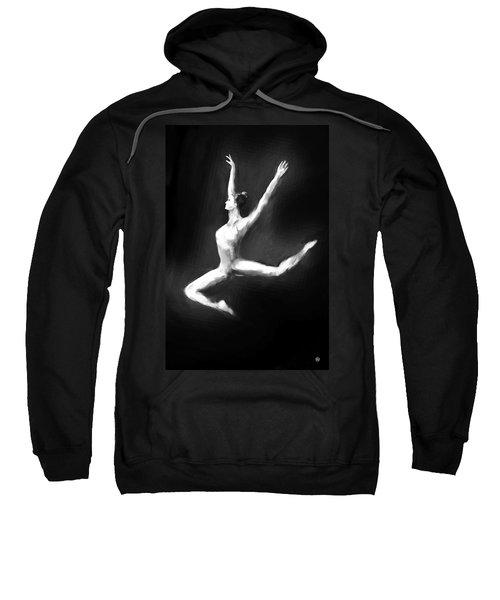 Dancer In Black And White Sweatshirt