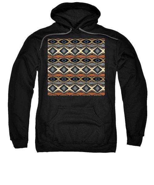Diamond And Eye Motif With Leopard Accent Sweatshirt