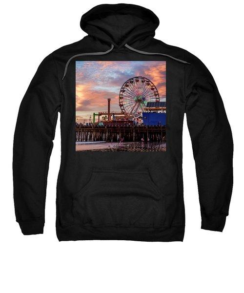Ferris Wheel On The Pier - Square Sweatshirt