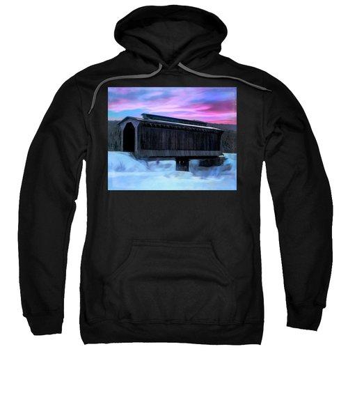 Fisher Raiilroad Covered Bridge Wolcott Vermont. Sweatshirt