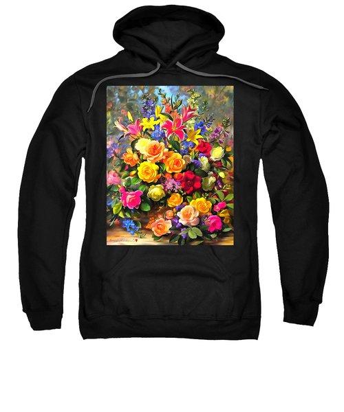 Floral Bouquet In Acrylic Sweatshirt