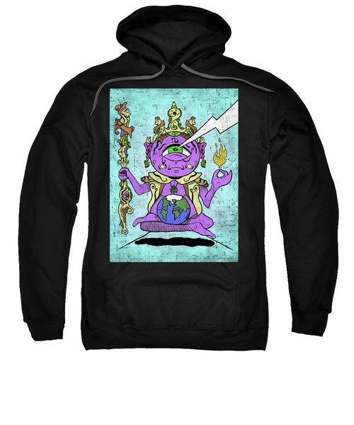 Sweatshirt featuring the digital art Gautama Buddha Colour Illustration by Sotuland Art