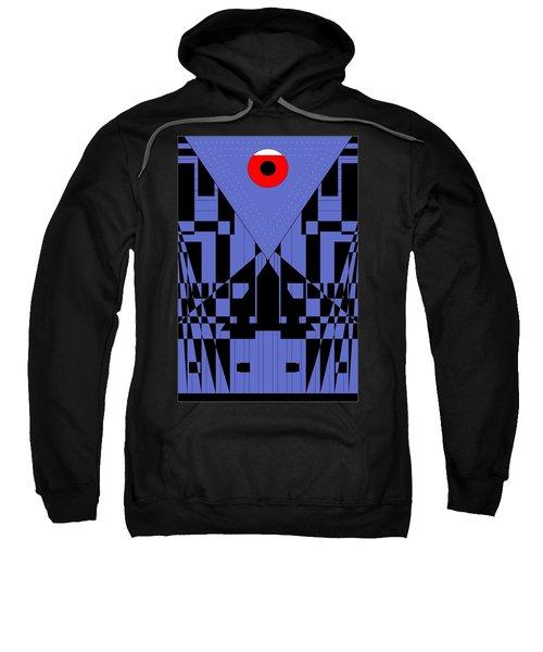 Geometric Red Dot  Sweatshirt