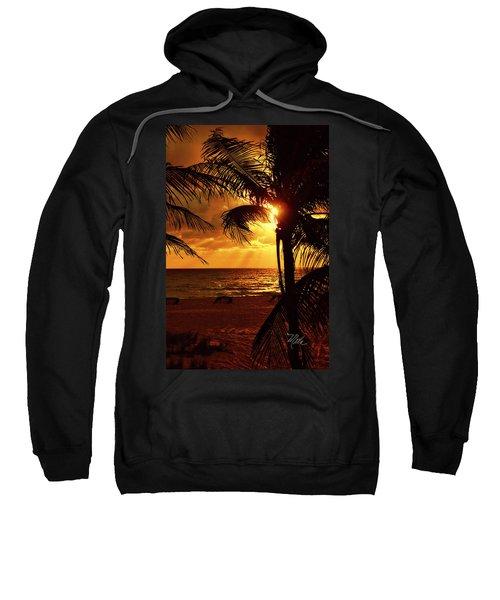 Golden Palm Sunrise Sweatshirt