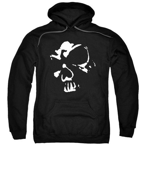 Goth Dark Skull Graphic Sweatshirt