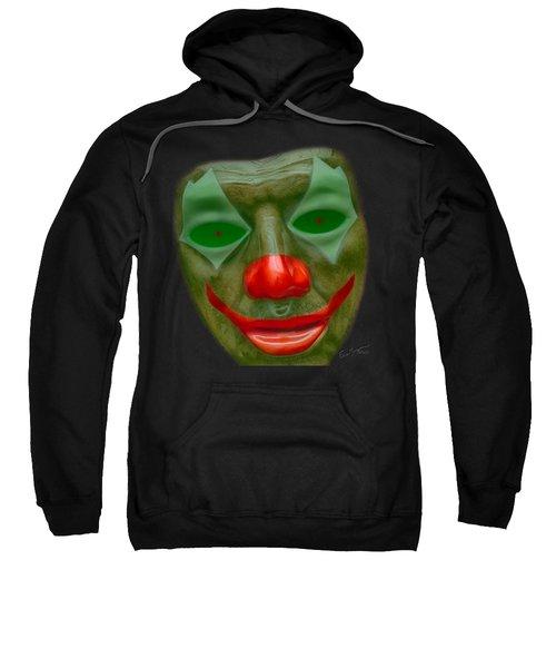 Green Clown Face Sweatshirt