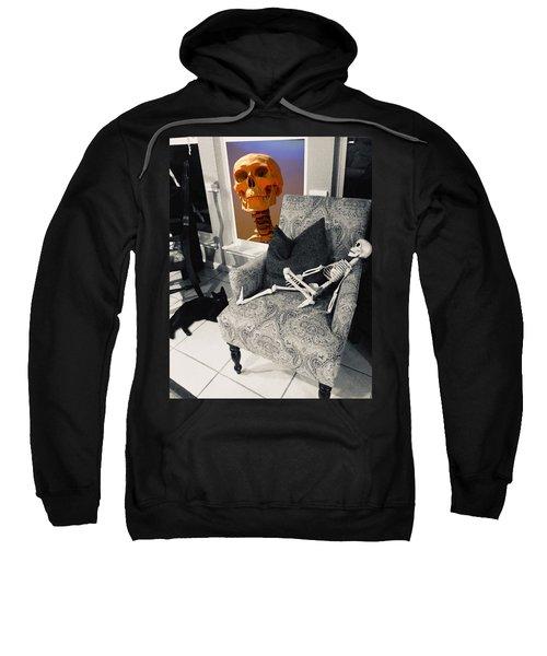 Halloween Window Dressing Sweatshirt