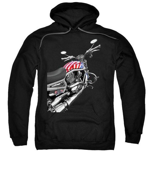 Harley Davidson Screamin Eagle Stars And Stripes On Black Sweatshirt