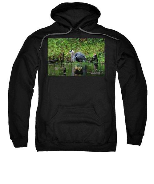 Heron In Beaver Pond Sweatshirt