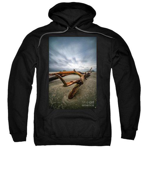 Hurricane Florence Beach Log - Portrait Sweatshirt