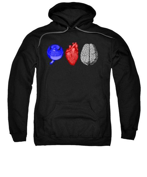 I Heart Brains Science Nerd Gift Sweatshirt