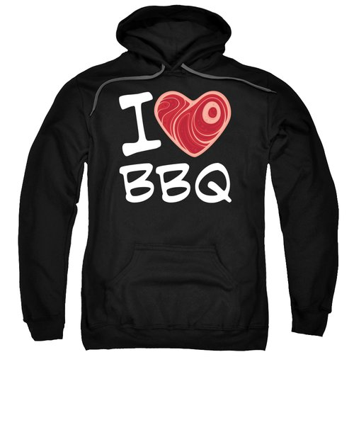 I Love Bbq - White Text Version Sweatshirt