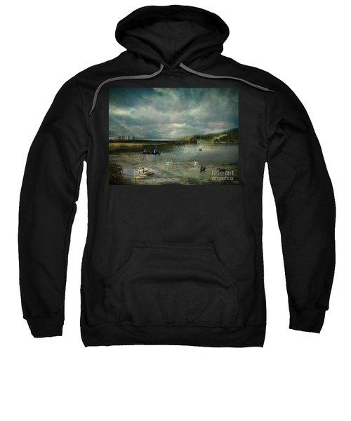 Idyllic Swans Lake Sweatshirt