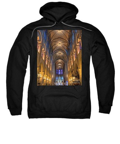 Interior Of Notre Dame De Paris Sweatshirt