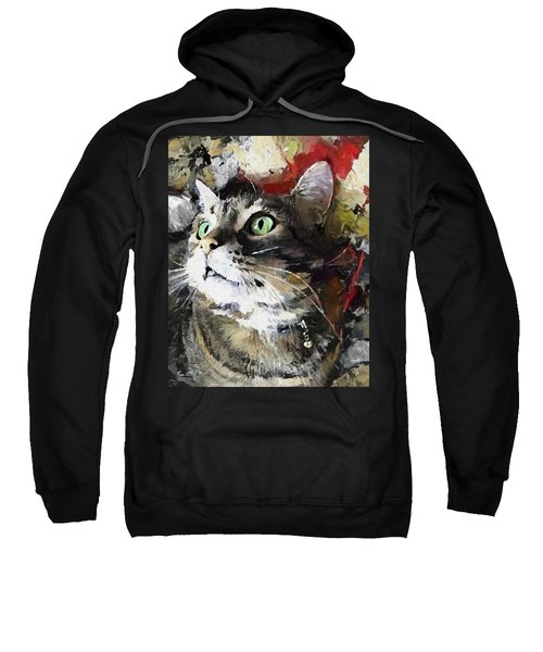 Jack The Green Eyed Manx Cat Sweatshirt