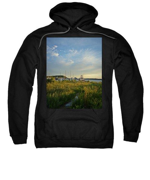 Leland Harbor At Sunset Sweatshirt