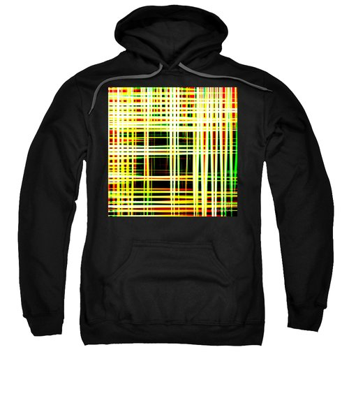 Lines And Squares In Color Waves - Plb418 Sweatshirt