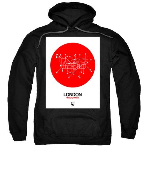 London Red Subway Map Sweatshirt
