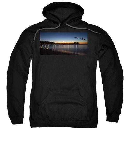 Malibu Pier At Sunrise Sweatshirt