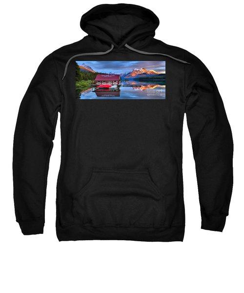 Maligne Lake Sunset Spectacular Sweatshirt