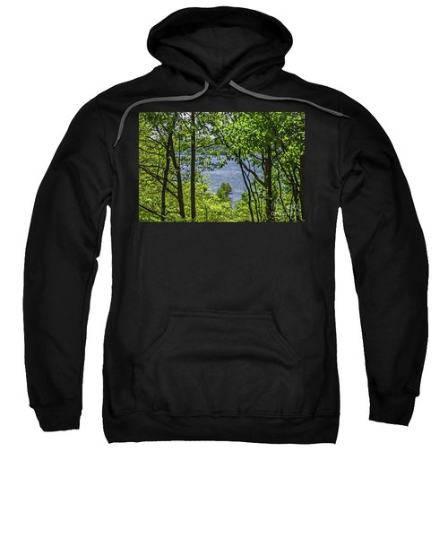 Manistee Lake Through The Trees Sweatshirt