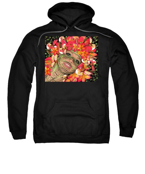 Mask Freckles And Flowers Sweatshirt