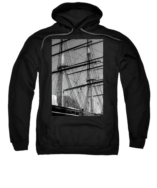 Masts And Rigging Of The Cutty Sark Sweatshirt