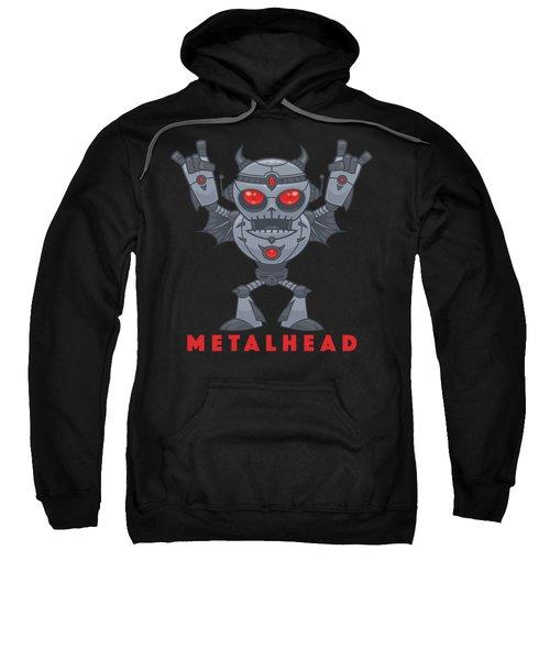 Metalhead - Heavy Metal Robot Devil - With Text Sweatshirt